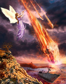 Revelation 8:8, 9,  commission