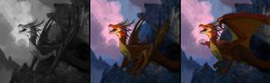 Dragon sketch Commission