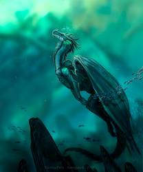 Kulani dragon, commission by Amisgaudi