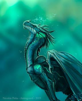 Kulani dragon, commission, details