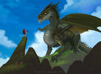 Dragon, commission by Amisgaudi