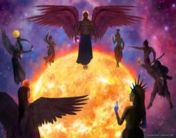 The Birth of Pyramelas, commission.