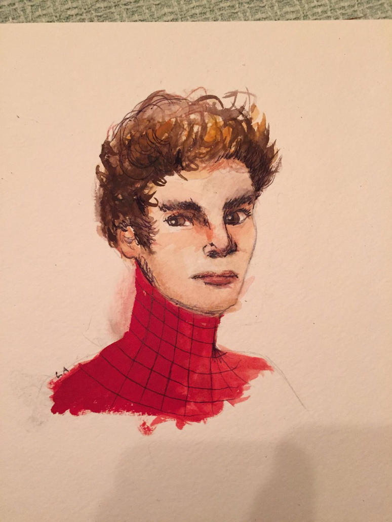 Spider-Man in Watercolor  by PaintingSaint