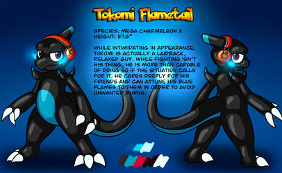 Commission - Tokomi Flametail Reference Sheet by Ryusuta