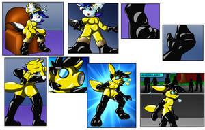 Comic commission: Hazmat Hazard (Suit Merge)