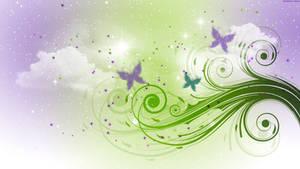 Lavender Butterfly Wallpaper