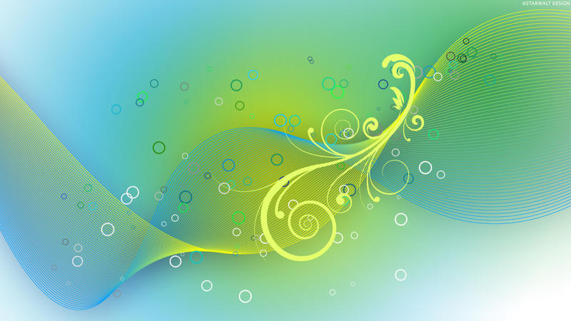 Flourish Wave HD Wallpaper