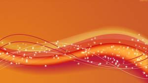Orange Wave HD Wallpaper