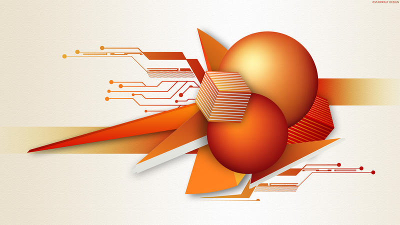 Orange Tech by StarwaltDesign