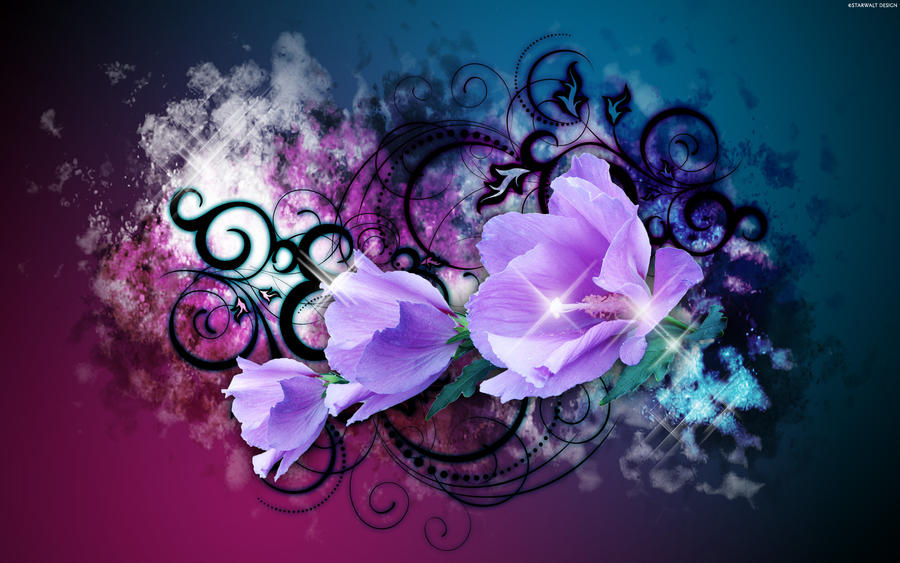 Purple Blossoms HD Wallpaper , wallpaper Purple Blossoms
