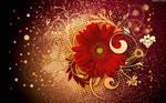 Red Flower Collage by StarwaltDesign