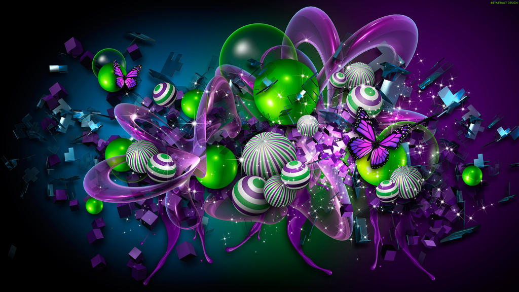 Green Apple Spheres by StarwaltDesign