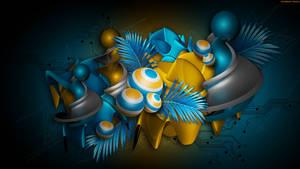 Yellow in Blue Tech by StarwaltDesign