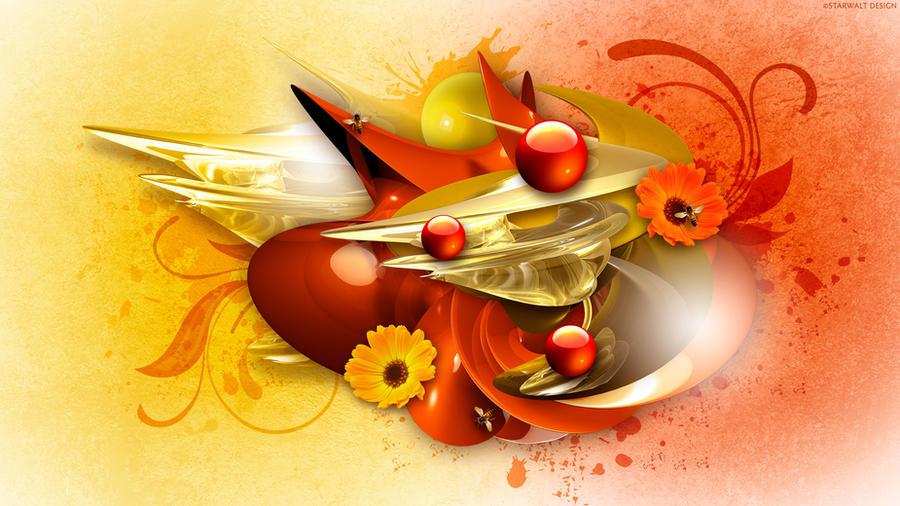 Swirls of Honey by StarwaltDesign