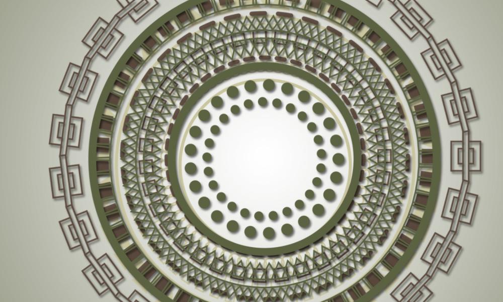 Mayan Circle Brushes by StarwaltDesign