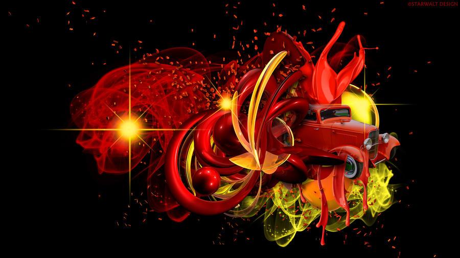 Vintage Red by StarwaltDesign