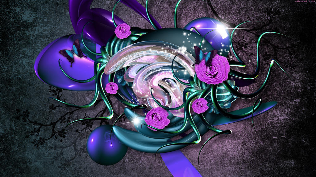 Purple Rose in Metamorphosis by StarwaltDesign