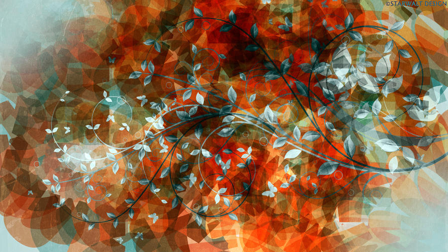 Teal Leaf in Autumn by StarwaltDesign