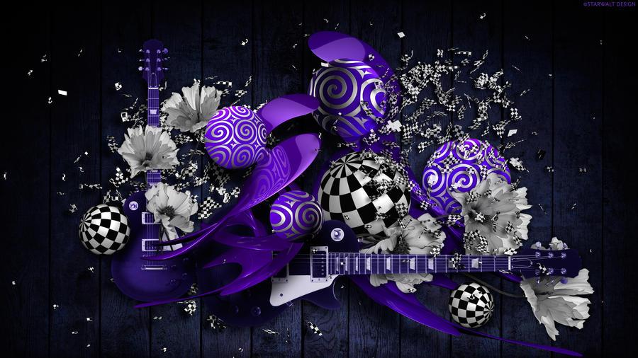 Musical Performance in Purple by StarwaltDesign