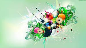 Green Collage Splash