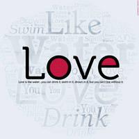LOVE WORD CLOUD by StarwaltDesign
