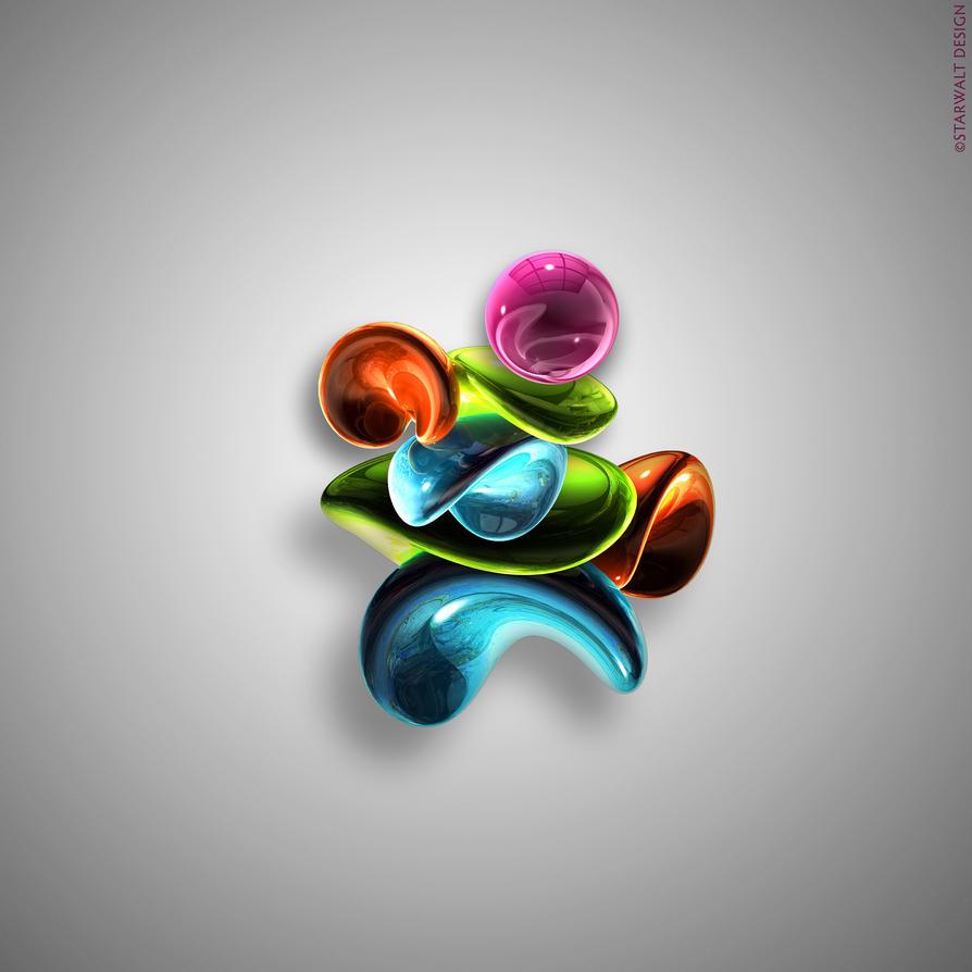 Dancing Tears in Color by StarwaltDesign