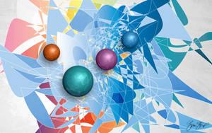 Flocking Spheres by StarwaltDesign