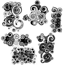 Abstract Swirl Brushes by StarwaltDesign