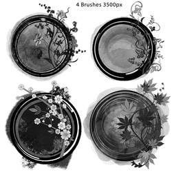 Flowers In the Round PS Brushes by StarwaltDesign