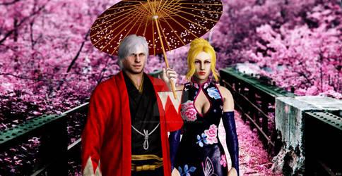Dante And Trish In Japan