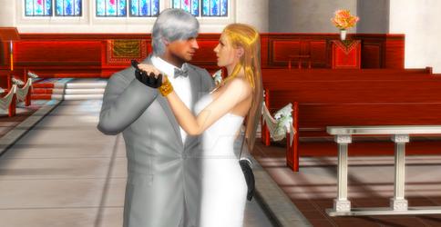 Happy wedding to Dante and Trish