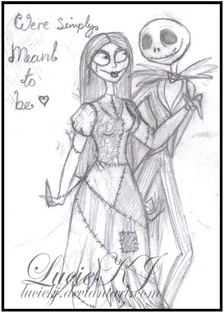 Nightmare before christmas sallyjack tattoo for Jack and sally coloring pages
