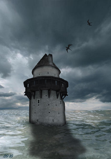 Tower in the sea by IvoryDreamz on DeviantArt