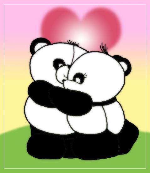 Image Gallery hugging cute cartoon panda