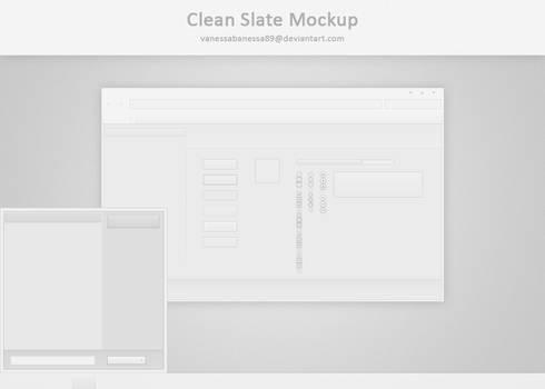 Clean Slate Mockup