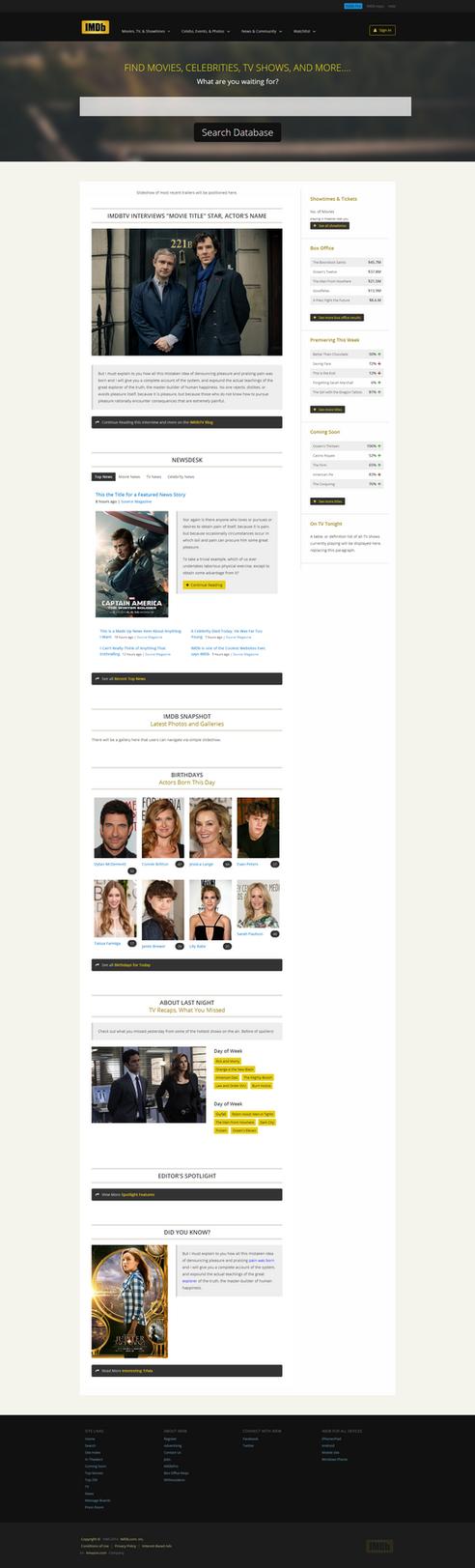 IMDB Redesign WIP by vanessabanessa89