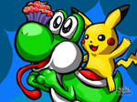 Yoshi and Pikachu (ft. Delicious Cupcake)