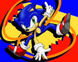 Sonic's 27th Anniversary by BlazingFire909