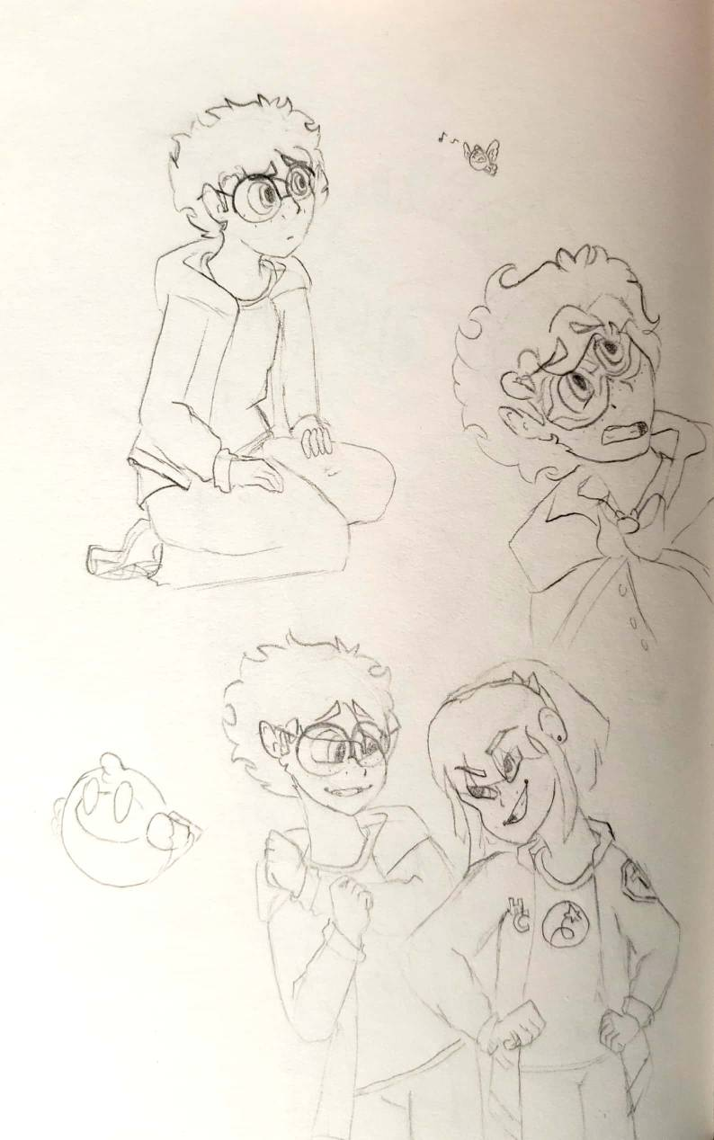 Magical Girl Au doodles - Toby