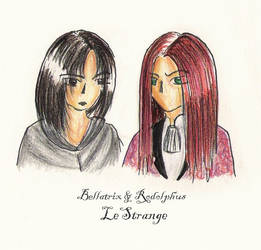 Bellatrix + Rodolphus by iirima-jennifer