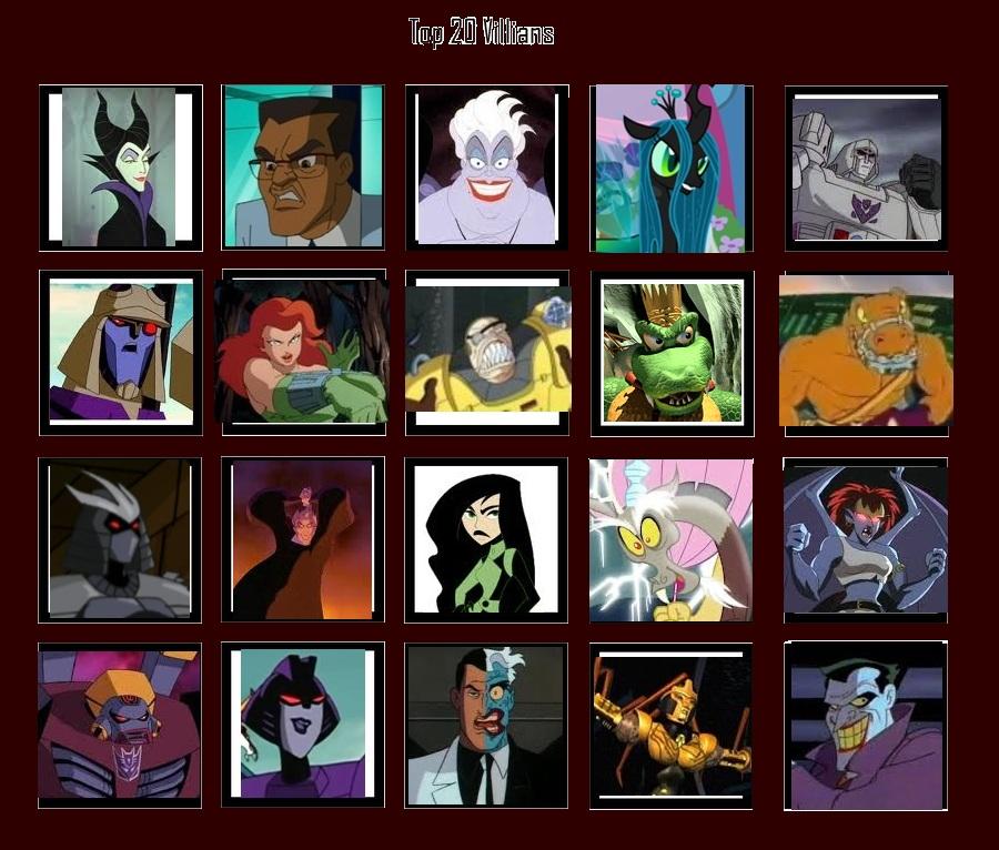 20 Cartoon Villains by Shark-Demon on DeviantArt