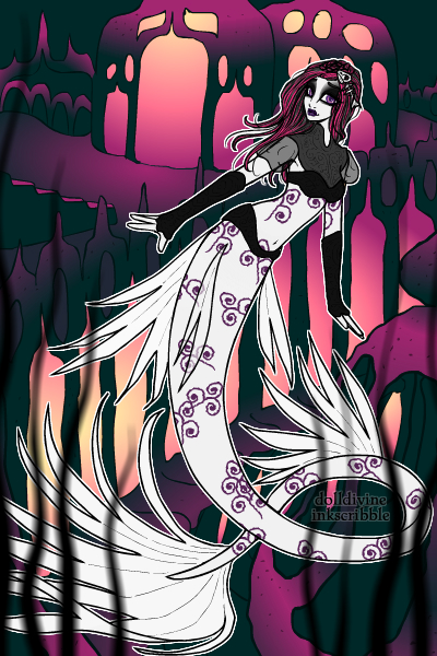 Goth Mermaid by Shark-Demon