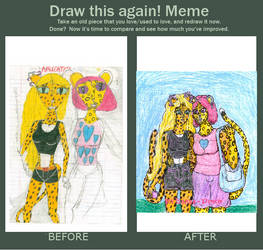 Meme Before And After (Reta and Abby)