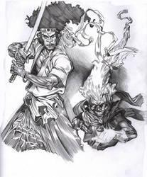 Afro and Ninja  Ninja by ChaseConley