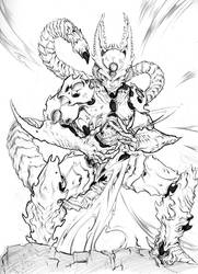 DBZ- Perfect Cell Sketch by ChaseConley