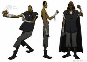 Man with the Iron Fist- unused RZA design