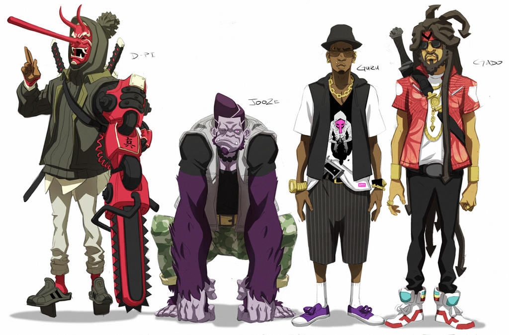 Kinetic Kartel- Male Characters by ChaseConley