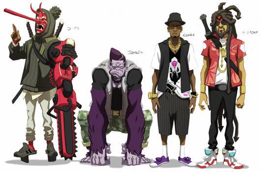 Kinetic Kartel- Male Characters