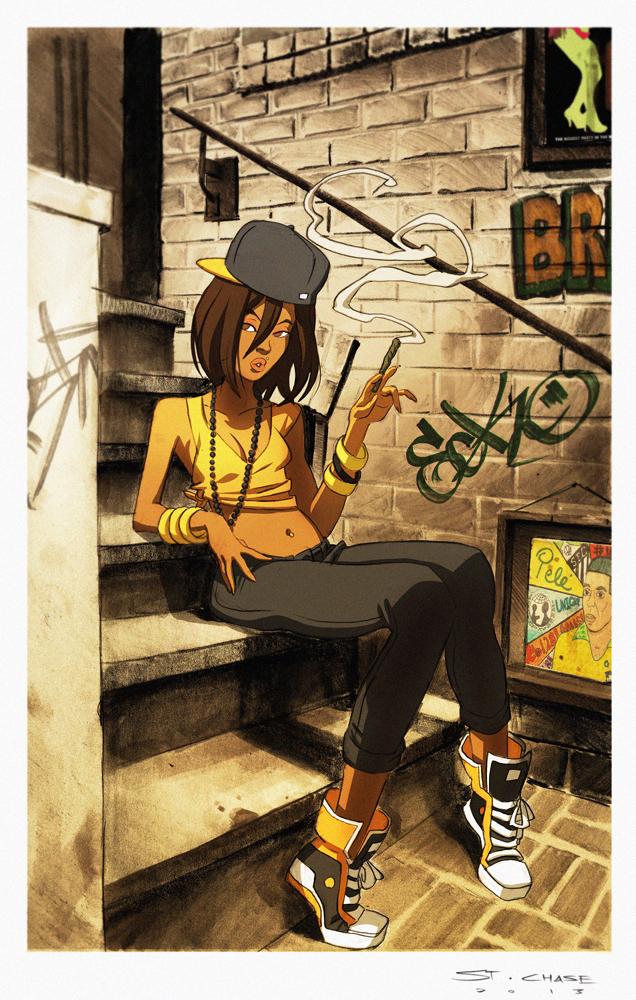 Kinetic Kartel- Outside a Favela Bar Colors by ChaseConley