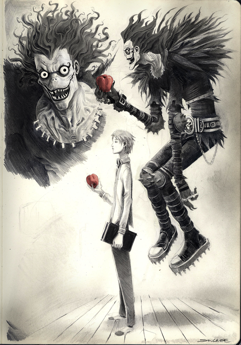 Deathnote scribbles by ChaseConley